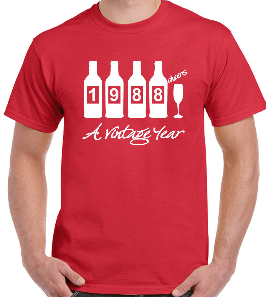 Bottles 1988 - Mens Funny Novelty 30th Birthday T Shirt - Gift Present Idea 2018 Short Sleeve Cotton T Shirts Man Clothing