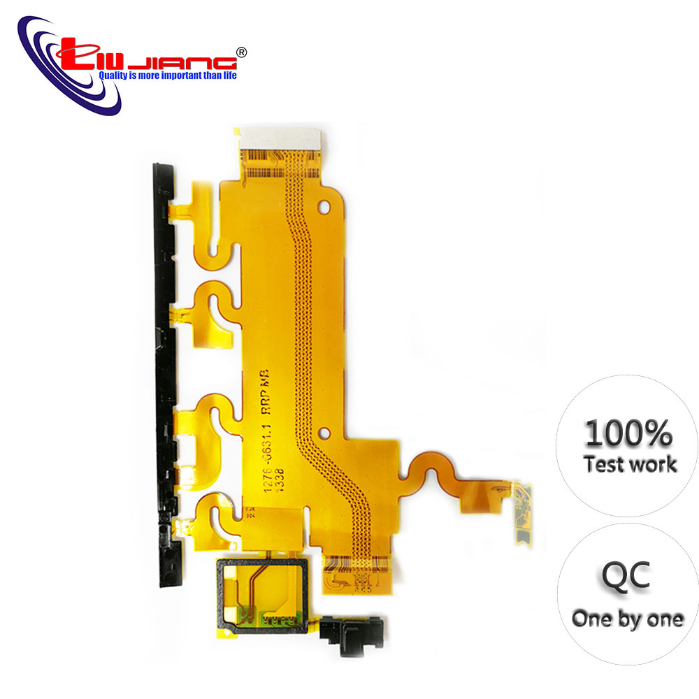 Original New For Sony Xperia Z1 L39h C6902 C6903 Power Button Switch On/Off Volume Flex Cable Replacement Repair Parts