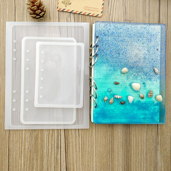 9 sztuk DIY żywica książki formy Notebook kształt silikonowe formy kryształ epoksydowa silikonowe formy przezroczyste książki silikonowe formy tanie i dobre opinie Notebook Shape Silicone Mold