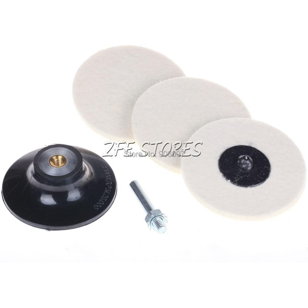 3Pc 2inch Roloc Disc Felt Woolen pad 2 Inch Roloc Disc Pad Holder Roll