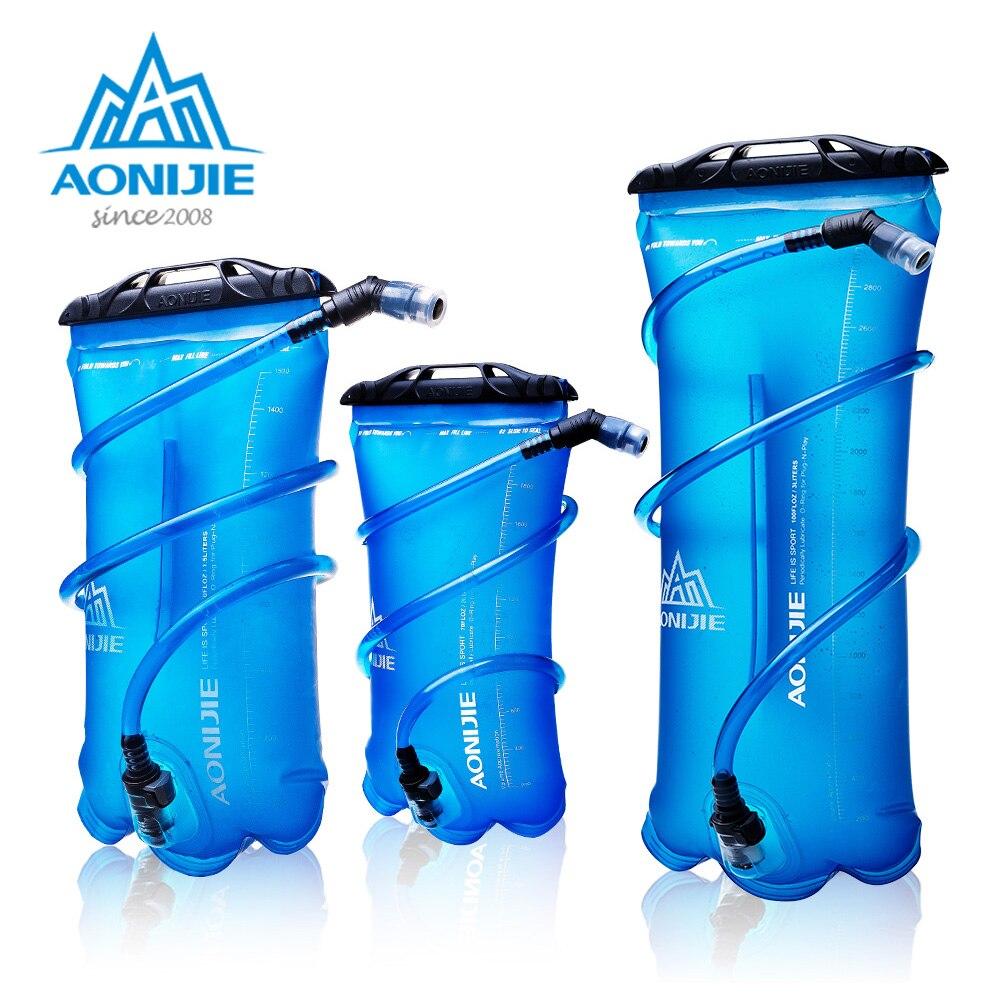 AONIJIE SD16 Macio Saco De Armazenamento Pacote de Hidratação Da Água Da Bexiga Reservatório de Água BPA Free-1.5L 2L 3L Execução Hidratação Colete mochila
