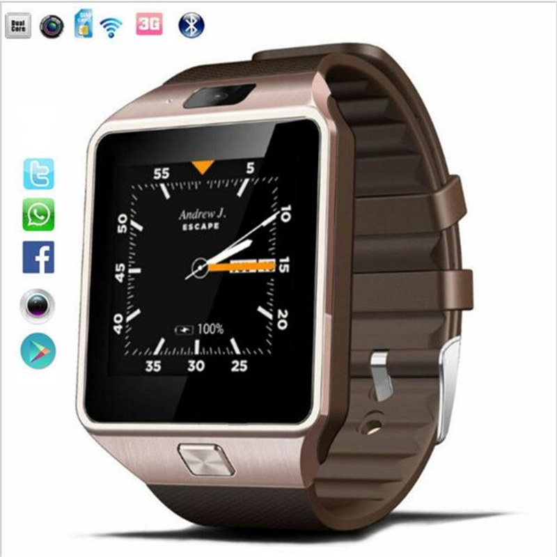 Qw09 bluetooth wifi smart montre reloj android 4.4 mtk6572 dual core 1.2 GHz ROM 4 GB RAM512MB Smartwatch Par Android iOS PK GT88