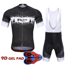 цена на 2018 Cycling Clothing Set Summer Short Sleeve Pro Riding Suit Breathable Cycling Jersey Set Ropa Ciclismo Kit with 9D Pad