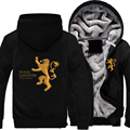 USA size Game of Thrones House Lannister of Casterly Rock Hear Me Roar Coat Zipper Hoodie Winter Fleece Unisex Thicken Jacket