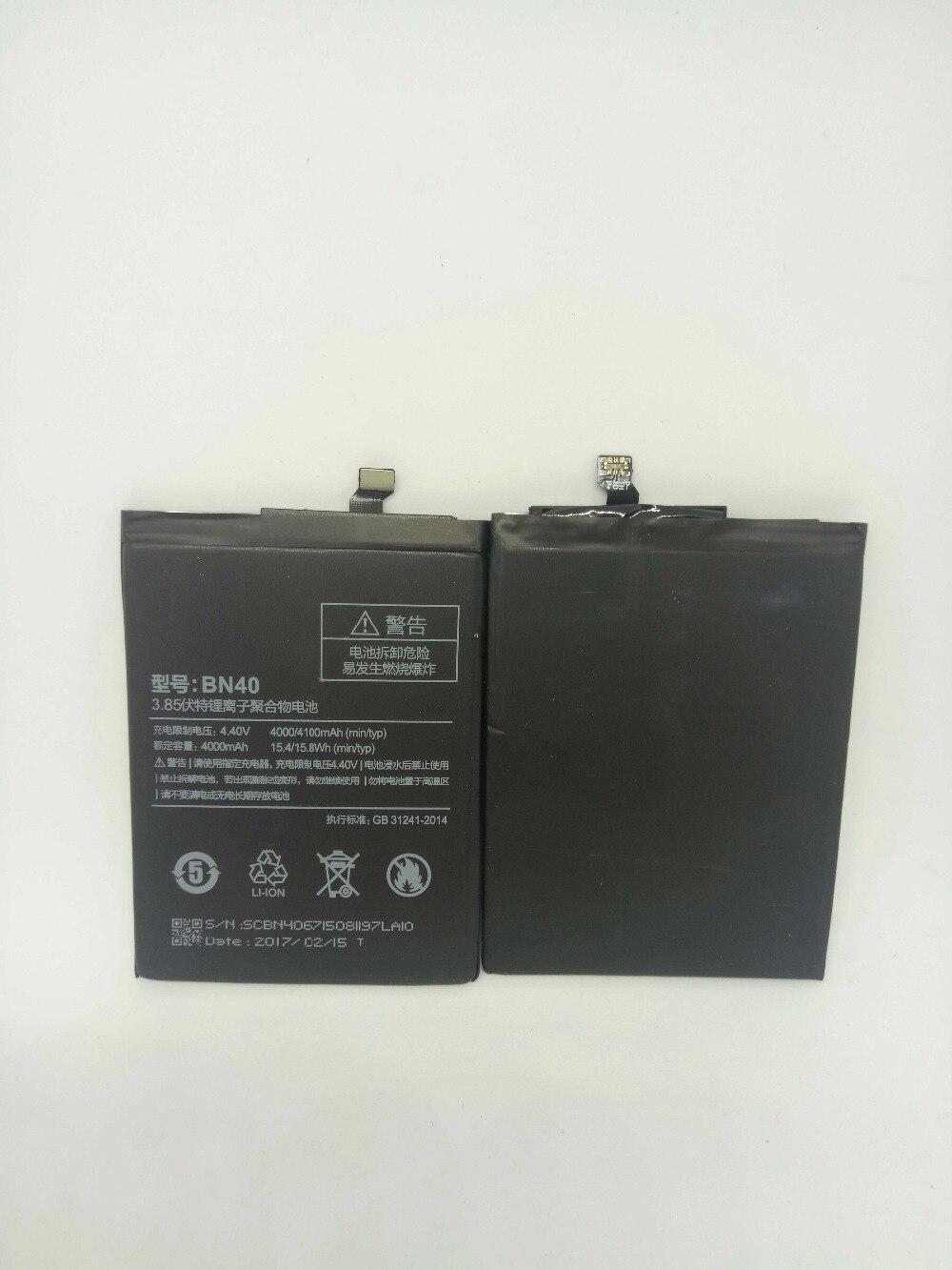 BN40 Battery For Xiaomi Redmi 4 Pro Prime 3G RAM 32G ROM Edition Redrice 4 Hongmi 4 Bateria