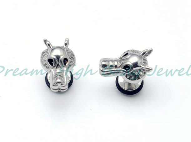 New Arrival Mens Earring Stud cock Dogz Cool Ear ring 316L stainless Steel Casting Quality guaranteed 50pcs/lot Free Shipping
