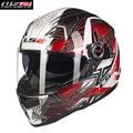 LS2 Fiberglass Motorcycle Helmet Full Face Street Motobike Motocicleta Cacapete Casco Casque Kask FF396G Men Racing Helmets ECE