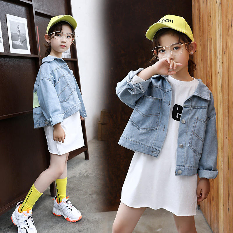 Teen Girls Clothing Set Spring Kids Clothes Girls Denim Jackets T Shirt Dress Suit for Children Clothes Girls Outfits 10 12 Year