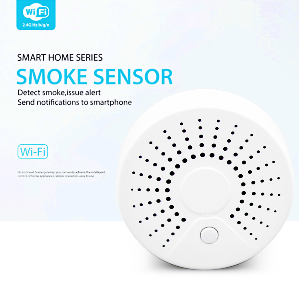 BeneXmart WiFi Tuya Smart Smoke Sensor detector wireless Fire Alarm security  Wifi Home Surveillance sensor
