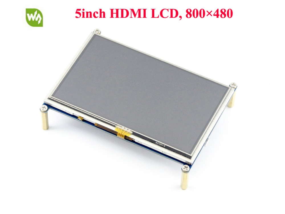 Waveshare 5inch HDMI LCD Resistive Touch Screen 800*480 LCD Display Module Supports Rasp ...