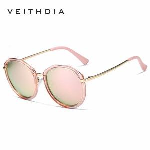 Image 4 - VEITHDIA Acetate Frame Womens Sun glasses Polarized Mirror Lens Luxury Ladies Designer Sunglasses Eyewear For Women oculos 3050