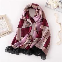 luxury brand 2019 women scarf fashion print thin soft silk scarves lady shawls pashmina foulard hijabs