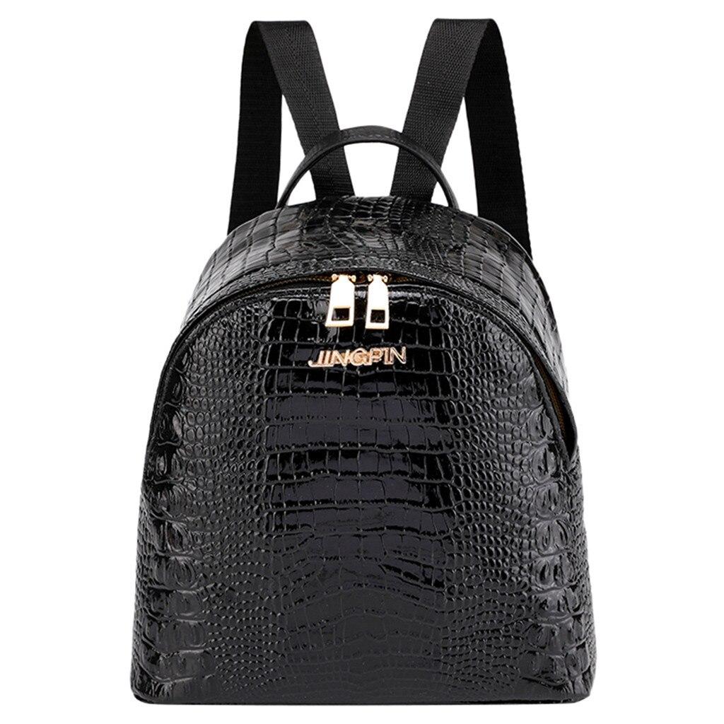 bags for women Fashion Women Travel Student Alligator Pattern School Bag Backpack Shoulder Bag bolsa femininabags for women Fashion Women Travel Student Alligator Pattern School Bag Backpack Shoulder Bag bolsa feminina