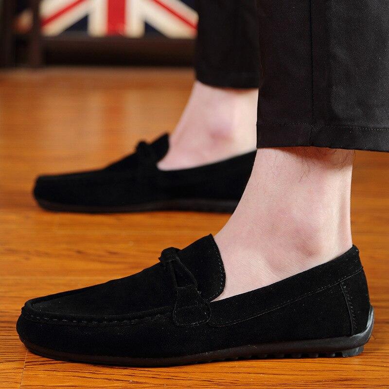 bleu Chaussures Cuir Suede Respirant Hommes Habillées Conduite En Casual Mocassins Mens De Slip Noir Noir D'affaires Pu gris on Formelle Marque pnq5Hx6Bw