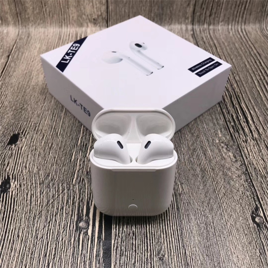 LK TE9 LK TE9 Touch Type Wireless Bluetooth Binaural Calls Smart Earphones Wireless Charging Bluetooth 5