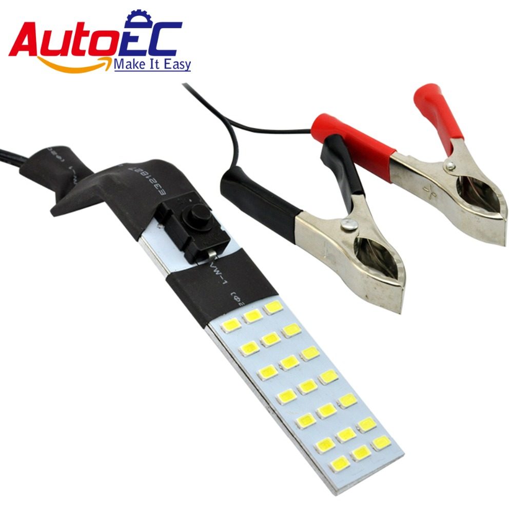 AutoEC LED 21smd 5630 led magnet emergency lights with Positive and negative clamps for Car Motorcycle dc12v 10set #LQ367b