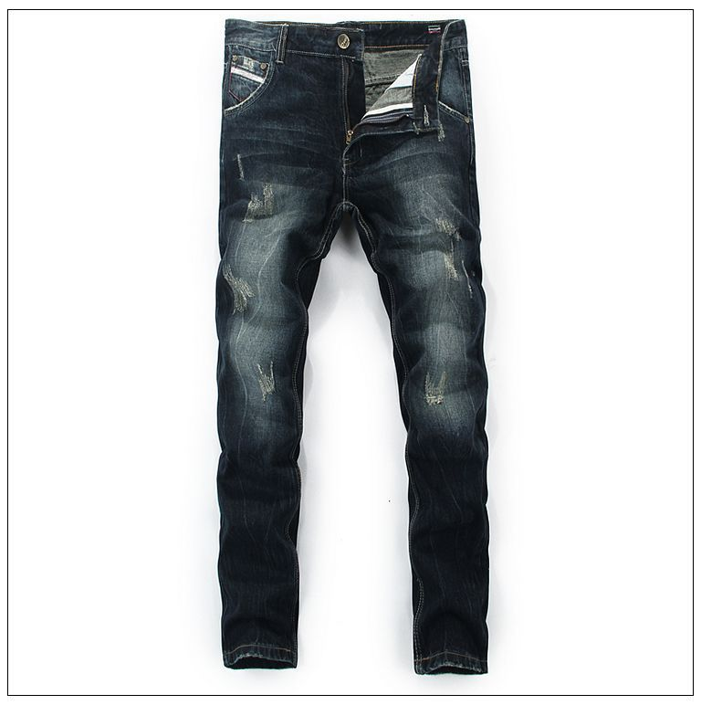 High Quality Mens Jeans Famous Brand Mens Stretch Straight Denim Skinny Jeans Men Cotton Jeans For