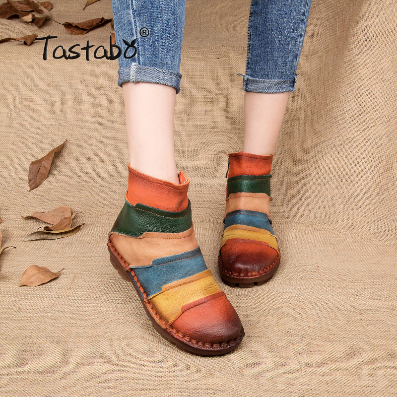 NEW ARRIVAL Fashion Martin Boots Genuine Leather Ankle Shoes Vintage Casual Shoes Brand Design Retro Handmade