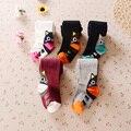 5 шт./лот девушки мода осень хлопок колготки милые кот печать принцесса сплошной чулки для девочки atwt0017