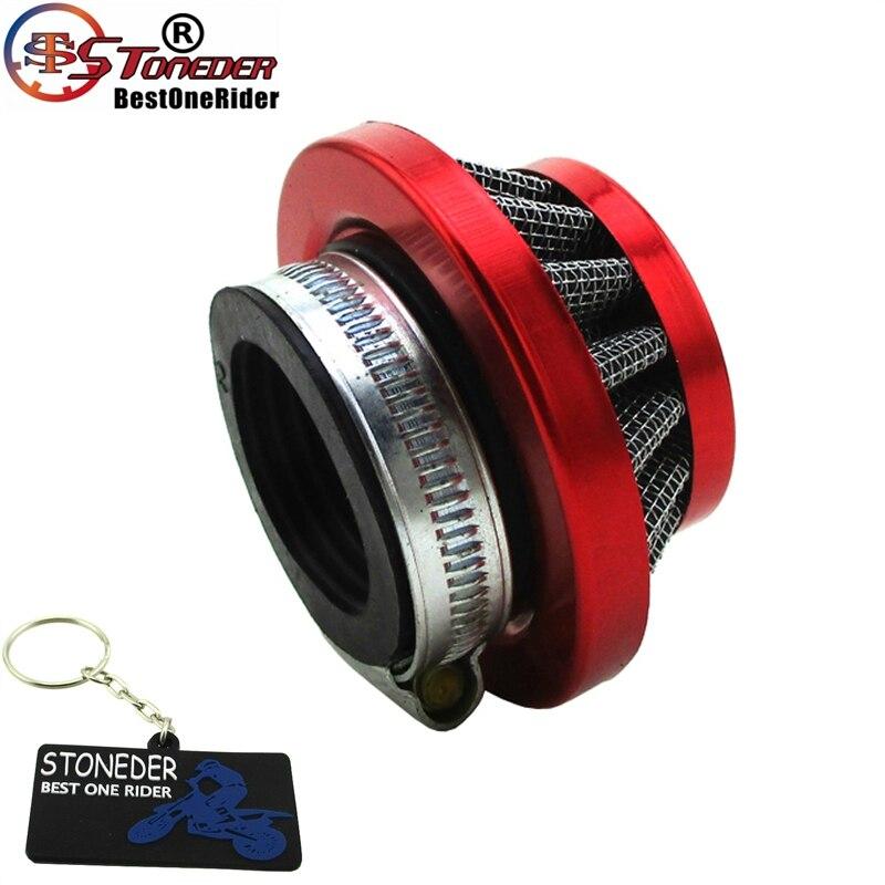 Керамический красный 35 мм воздушный фильтр для 50cc 90cc 110cc 125cc SDG Stomp Kayo Sunl Pit Dirt Bike ATV Quad картинг Багги ДГЗ Atomik