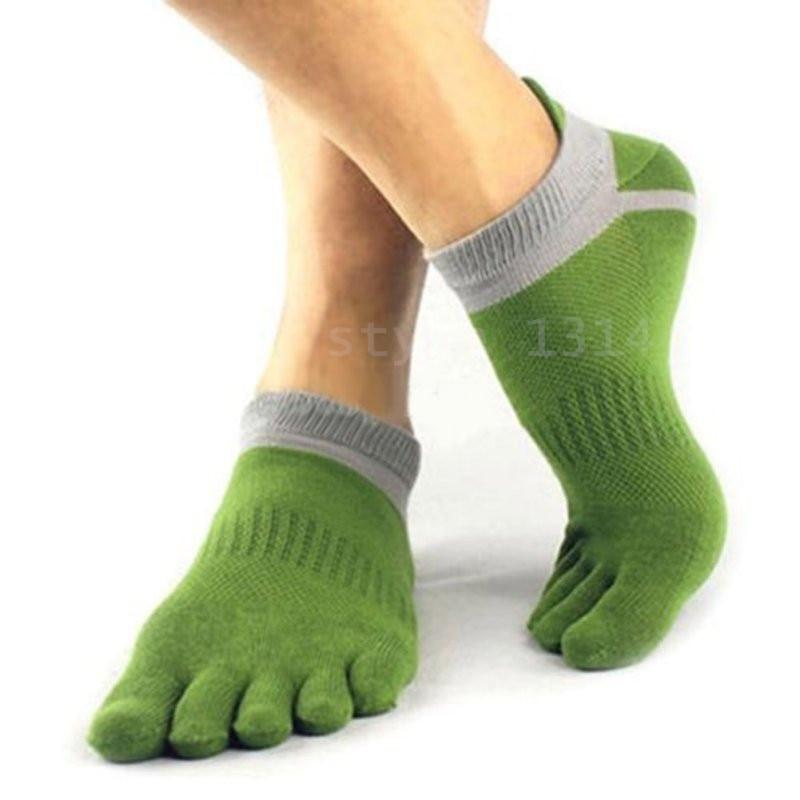 1 Pair Mens Cotton Toe Sock Pure S Five Finger Socks Breathable 6 Colors NEW