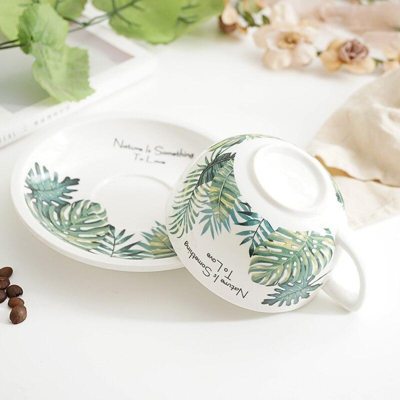 New Creative 320ml Coffee Cup Bamboo Leaf 3