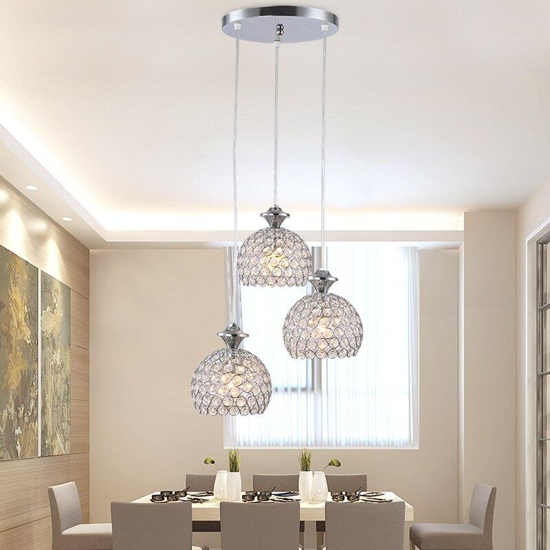 Aliexpress.com : Esszimmer Deckenleuchte Drei Moderne Einfache Tabelle  Lampe 3 LED Esszimmer Persönlichkeit Und Kreativität Bar Kristall Lampe 201  Von ...