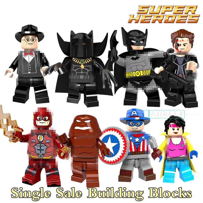 Building Block X-Men Clayface Batman Panther Jubilee Cowboys Flash America Super Heroes Kid DIY Toys Bricks PG8088 Figures Model
