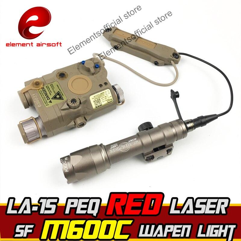 Element Airsoft surefir surefir Wapen Lumière IR Laser Led LA 15 PEQ Double Fusil Arma Contrôle Passer Des armes À Feu Arme Tactique Lampe de poche