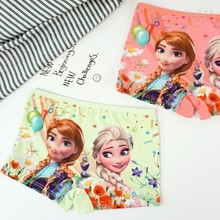 цены 4pcs/lot Children's underwear, girls underwear, cartoon princess cotton panties, 3-8 years old
