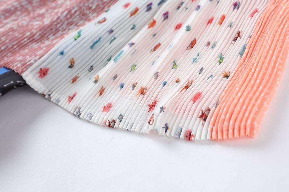 Patchwork Rayé Multicolore Floral Imprimé À Pathcowrk Qualité Midi D'été Femmes Truevoker Haute De Designer Volants Robe CeoxWrBd