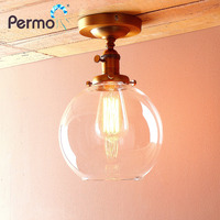 Permo Vintage Sconce Wall Light 7.4 Globe Glass Wall Lamp Indoor Lighting fitures Luminaire New Year Christmas Home Decorations