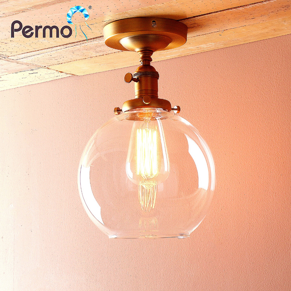 Permo Vintage Sconce Wall Light 7.4 Globe Glass Wall Lamp Indoor Lighting fitures Luminaire New Year Christmas Home DecorationsPermo Vintage Sconce Wall Light 7.4 Globe Glass Wall Lamp Indoor Lighting fitures Luminaire New Year Christmas Home Decorations