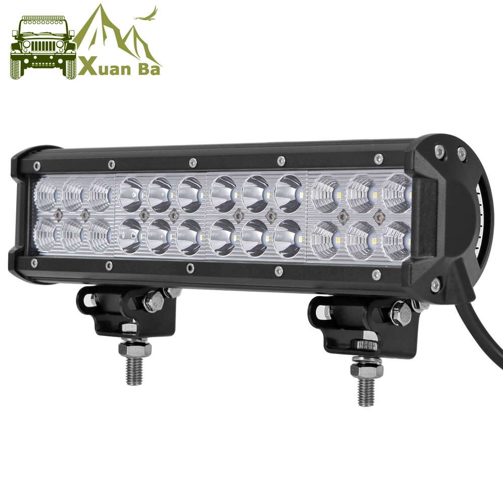 Led Bar Niva 4x4 Off road 12 inch 72W  For 12V 24V RC Car ATV SUV 4WD Motorcycle Excavator Trucks Offroad Barra Led Work Light-in Light Bar/Work Light from Automobiles & Motorcycles