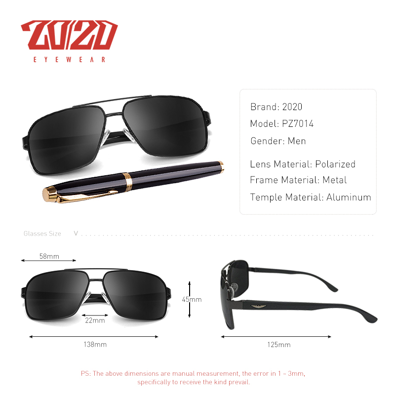 e449157345d 20 20 Brand Design New Aluminum Polarized Sunglasses Men Travel Driving Sun  Glasses Classic Male Eyewear Gafas PZ7014-in Sunglasses from Men s Clothing  ...