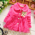 Fashion Spring Lace Princess Baby Kids Girls Children Infant Coat Jackets Outwear Trench Cardigan MT004