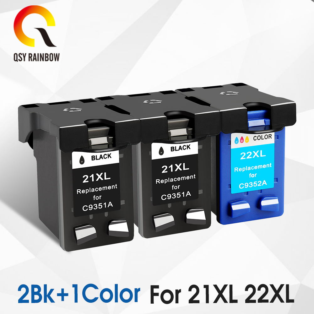 QSYRAINBOW Remanufactured ink <font><b>cartridge</b></font> Replacement for hp21 <font><b>22</b></font> <font><b>hp</b></font> 21xl For <font><b>HP</b></font> DESKJET 3910 3920 D1311D1320 D1330 D1341 D1360 image