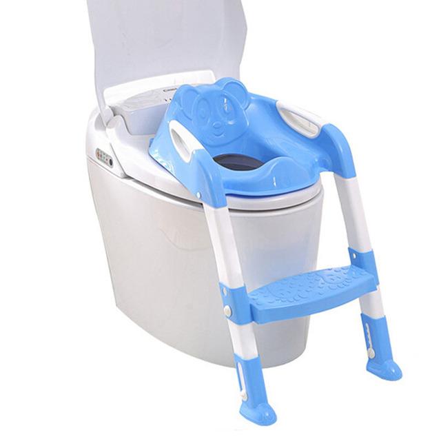Assento do bebê Potty Cadeira Dobrável Higiênico Escada De Alta Qualidade Kid Mictórios Menino Kawaii Panda Orinal Formadores Infantil Armário de Água