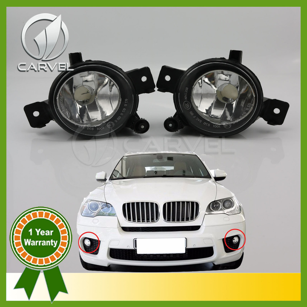 ФОТО  For BMW X5 E70 2011 2012 2013 63177224643 / 63177224644 without Light Bulb Included C-20 Car Fog Lights Driving Lamps