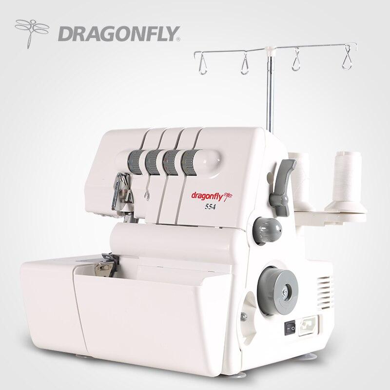 domestic overlock sewing machine /4 thread overlock sewing machine dragonfly brand model 14U554AD machine