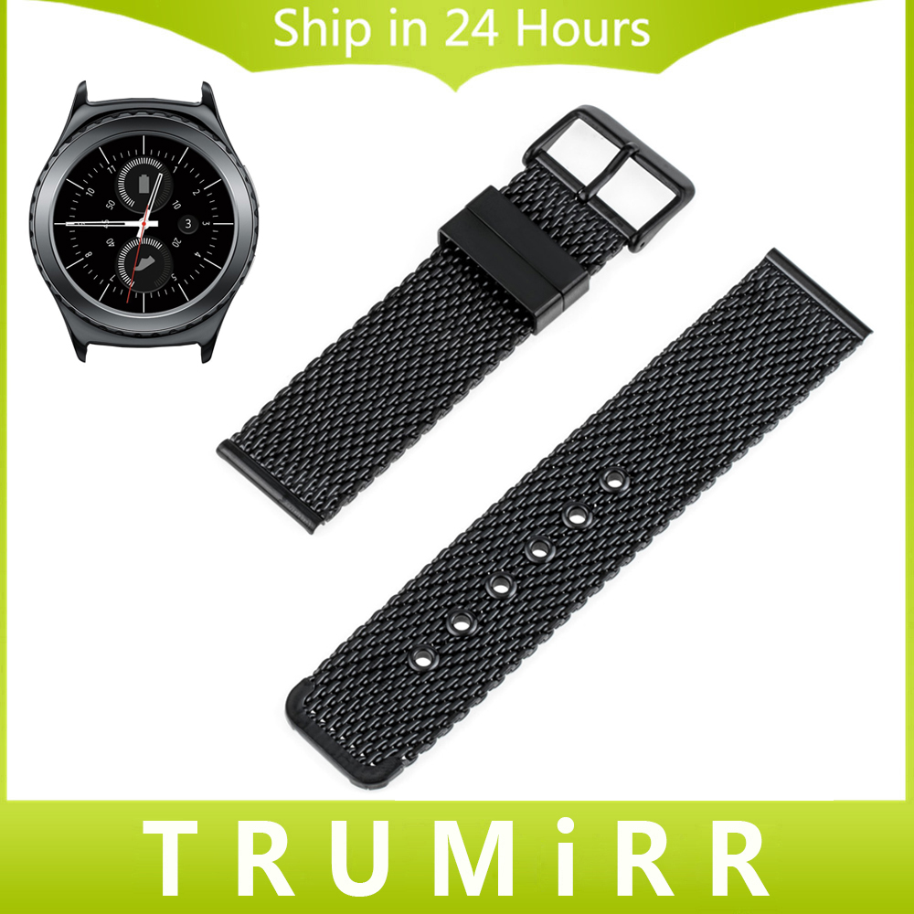 Milanese Stainless Steel Watch Band for Samsung Gear S2 Classic SM-R732 / R735 Moto 360 2 Men's 42mm Strap Bracelet Black Silver 20mm watch band milanese mesh stainless steel strap bracelet for samsung gear s2 classic sm r7320 moto 360 2 2nd gen 42mm 2015
