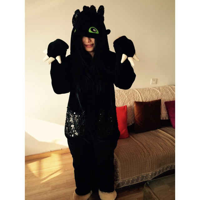 New how to train your dragon toothless pajamas cosplay onesie new how to train your dragon toothless pajamas cosplay onesie sleepwear ccuart Image collections