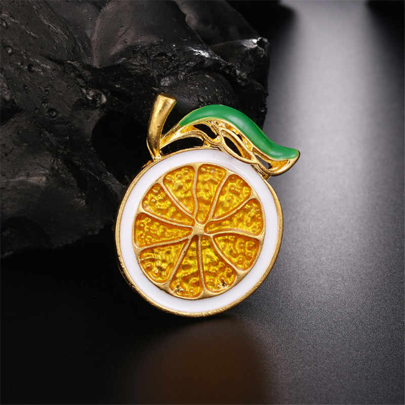 Mode 2 Warna Memilih Lemon Enamel Pin Bros Untuk Wanita pria Bros Perhiasan Lucu Buah Bros Gaun Mantel Ransel Lencana hadiah