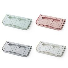 BF040 Creative hanging paste rack, household folding rack bathroom wall shoes slippers storage 27.9*14.5*2cm