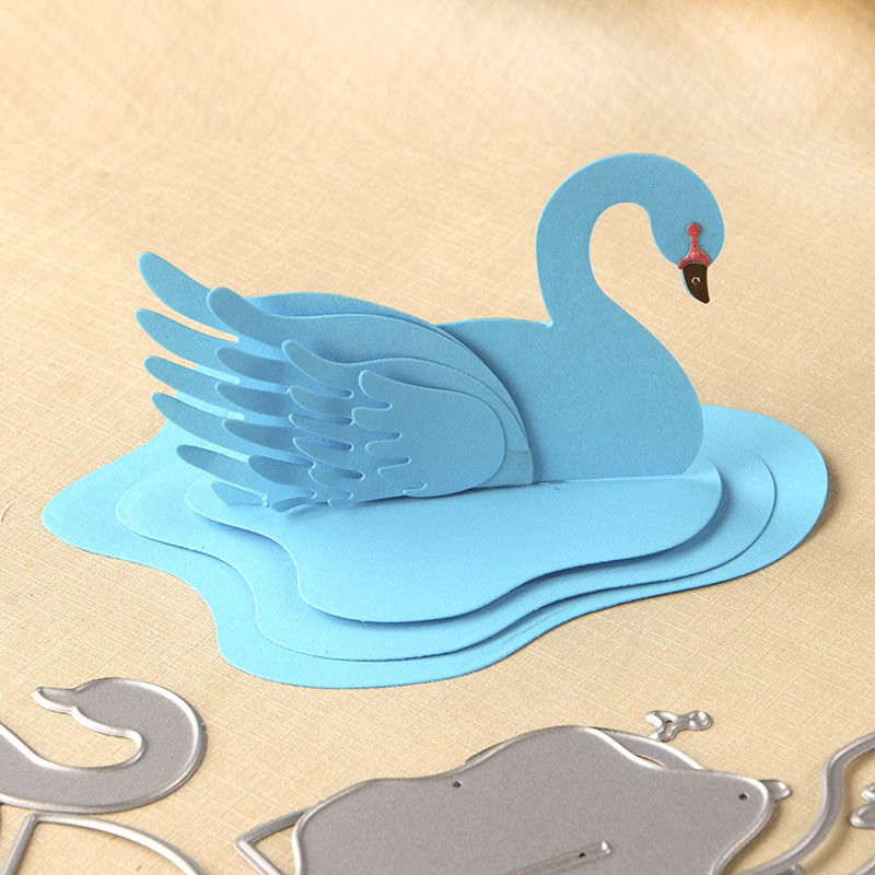 DUOFEN METAL CUTTING DIES 050296 3D Swan set for DIY papercraft project Scrapbook Paper Album greeting card