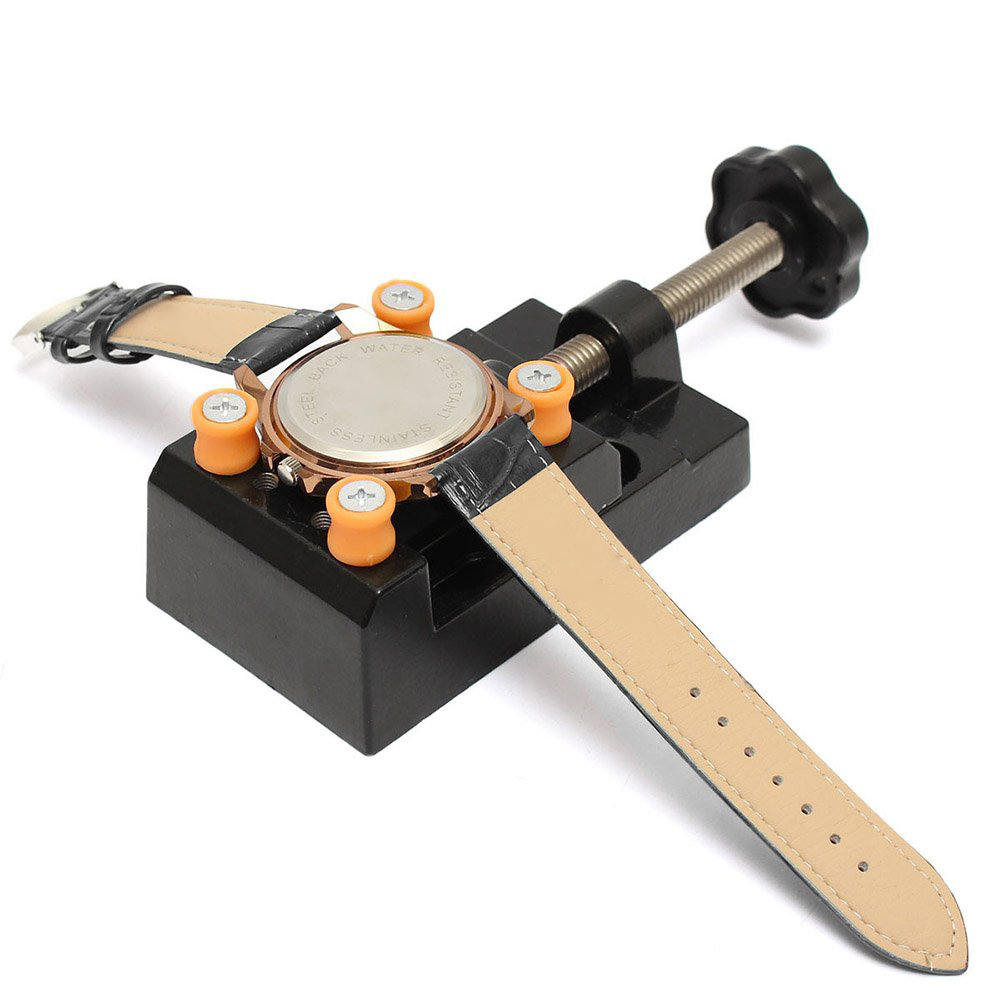 Watch Adjustable Opener Back Case Cover Press Remover Fixing Holder Case Repairing Watchmaker Tool Movement Dial Fixer