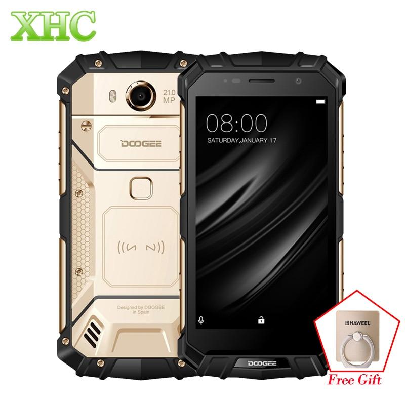 DOOGEE S60 IP68 смартфонов 5580 мАч Беспроводной зарядки Helio P25 Octa Core 5,2 ''FHD 21MP Оперативная память 6 ГБ Встроенная память 64 ГБ Dual SIM NFC мобильных телефоно...
