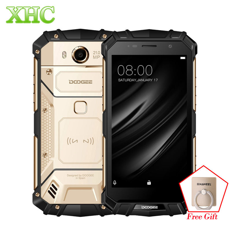 DOOGEE S60 IP68 Smartphones 5580 mAh carga inalámbrica Helio P25 Octa núcleo 5,2 ''FHD 21MP RAM 6 GB ROM 64 GB Dual SIM NFC teléfonos móviles