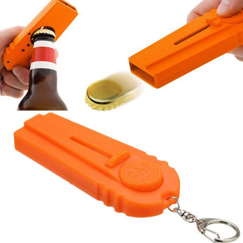 High Quality Portable Flying Cap Zappa Beer Drink Bottle Opener Opening Cap Launcher Top Shooter Gun Kichen Cooking Tool F1