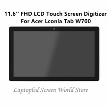 "FTDLCD 11.6"" FHD LCD Touch Screen Digitizer Assembly Replace Laptop B116HAN03.0 For Acer Lconia Tab W700 1920×1080"